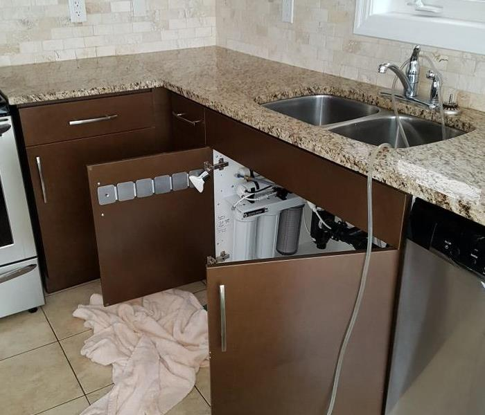 Kitchen Flood Destroyed Cabinetry  Before